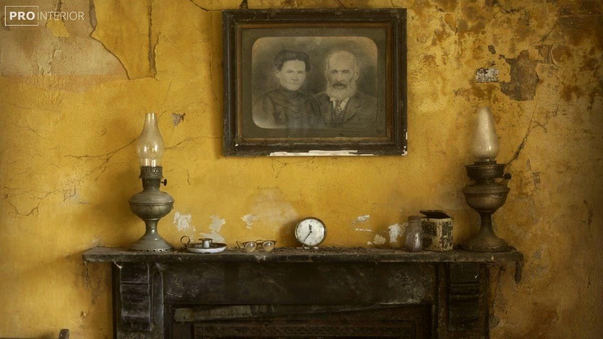 интерьер в стиле заброшенного дома