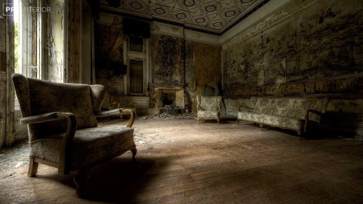 фото інтер'єру в стилі покинутого будинку