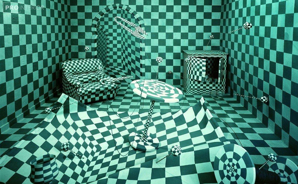 op-art in the interior