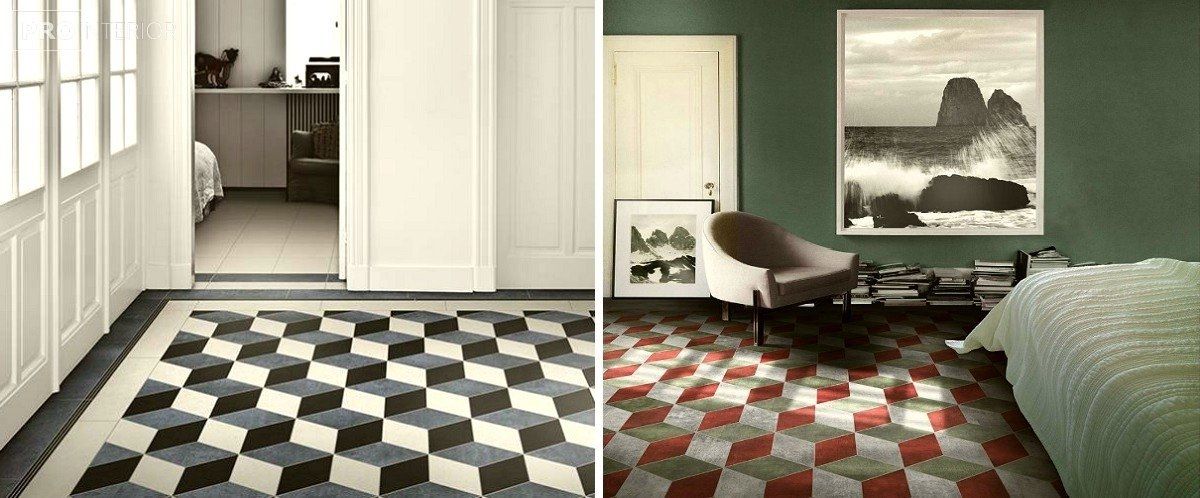 op-art style in the interior