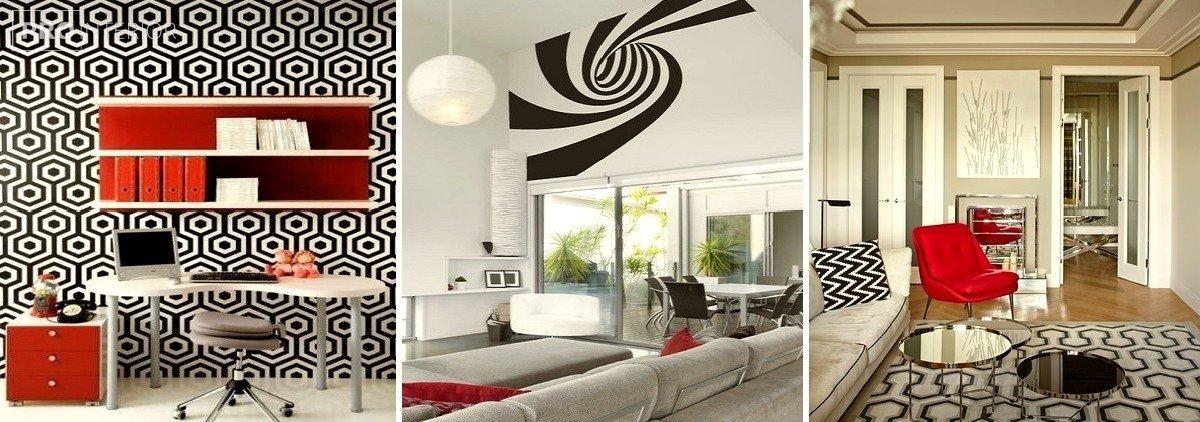 op-art style in interior photo