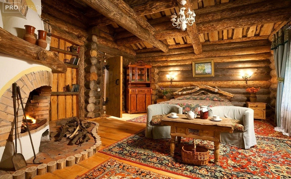 rustic style in the interior