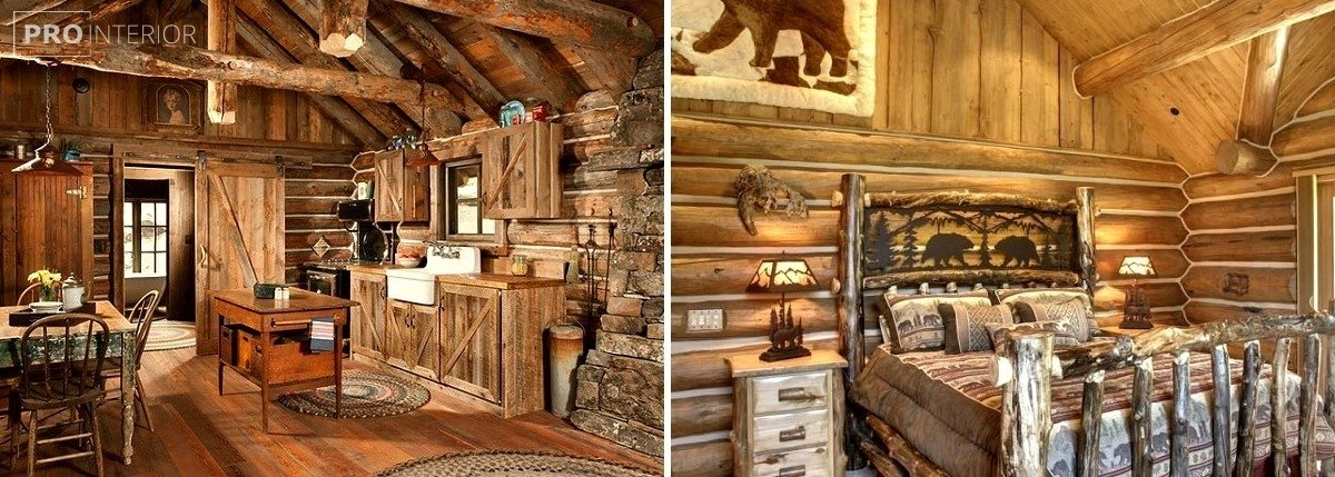 rustic style in interior photo