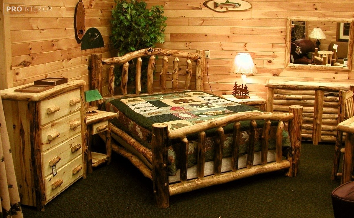 rustic room style in the interior