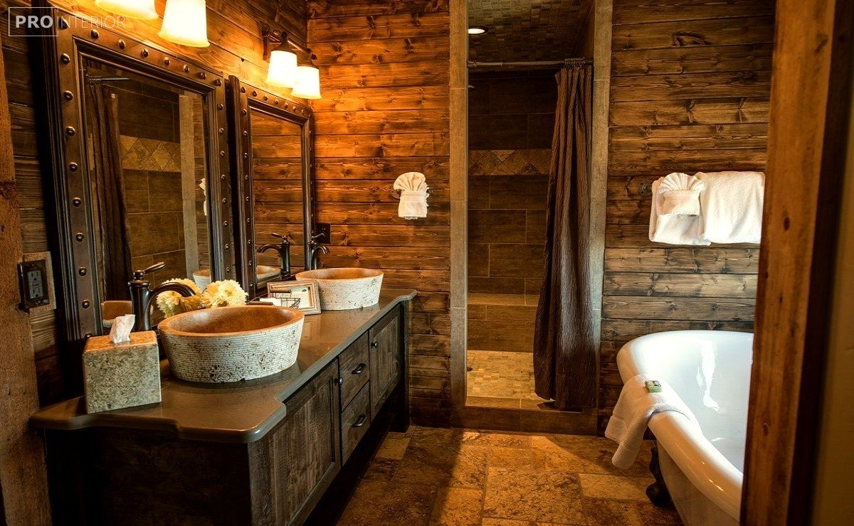 rustic style in the bathroom