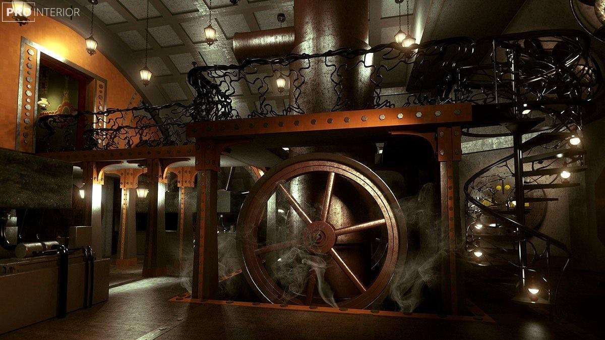 steampunk in the interior